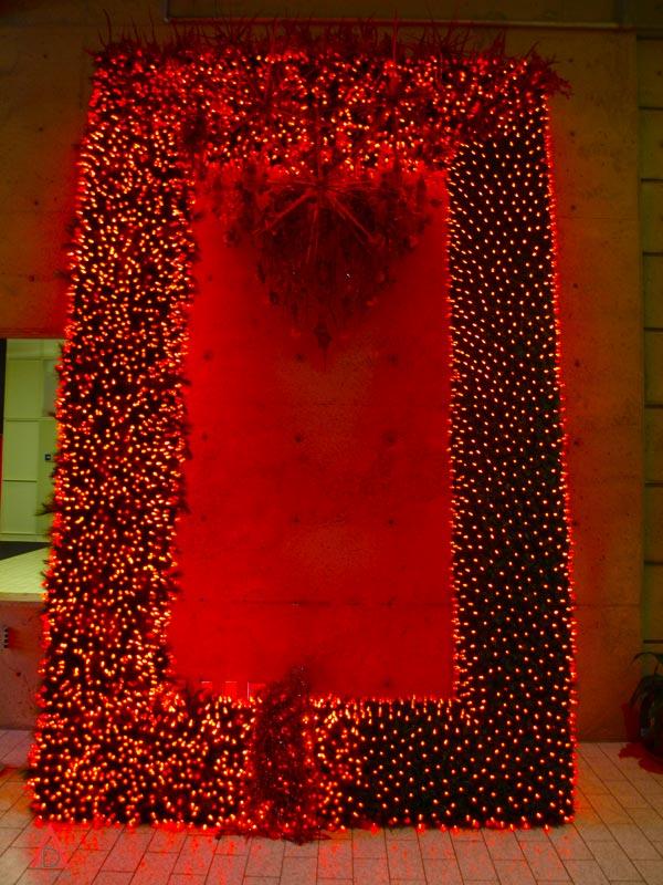 Murale de lumière rouge
